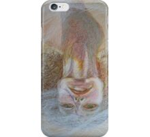 Cracked Down - An Upside Down Portrait Of A Woman iPhone Case/Skin