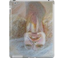 Cracked Down - An Upside Down Portrait Of A Woman iPad Case/Skin