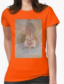 Cracked Down - An Upside Down Portrait Of A Woman Womens Fitted T-Shirt