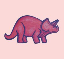 Pink Triceratops  Kids Clothes
