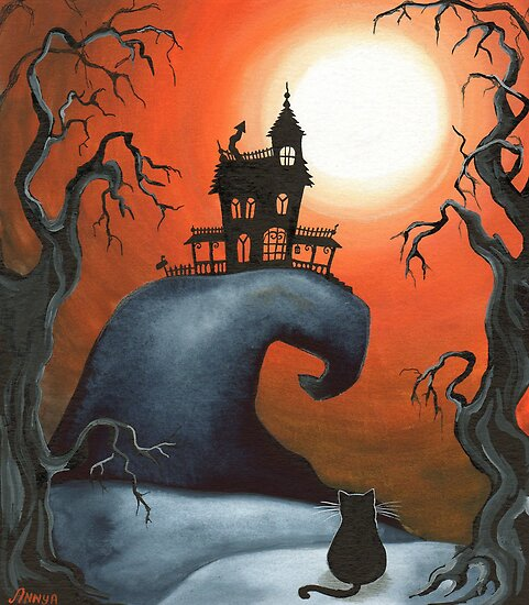 Haunted House on Old Witch Hill by Annya Kai