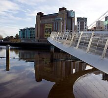 Clouds over and under the Millennium Bridge by Catherine Dipper