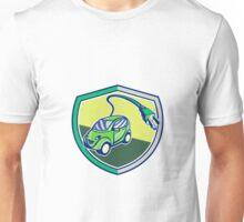 Plug-in Hybrid Electric Vehicle Retro Shield Unisex T-Shirt