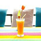 Fresh orange juice in Paradise by Laurent Hunziker