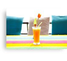 Fresh orange juice in Paradise Canvas Print