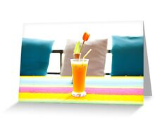 Fresh orange juice in Paradise Greeting Card