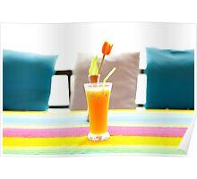Fresh orange juice in Paradise Poster