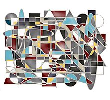 Geometric Stained Glass  Photographic Print