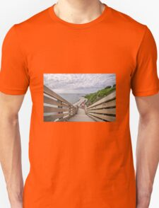 Steps At Back Beach - Lyme Regis Unisex T-Shirt