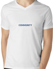 'Community' Mens V-Neck T-Shirt