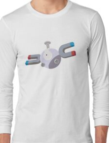 Magnemite Pokemon Simple No Borders Long Sleeve T-Shirt