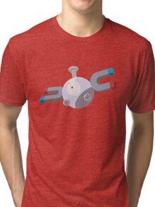 Magnemite Pokemon Simple No Borders Tri-blend T-Shirt