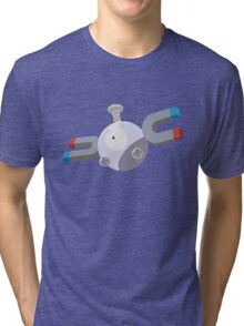 Magnemite Pokemon Simple No Borders Tri-blend T-Shirt
