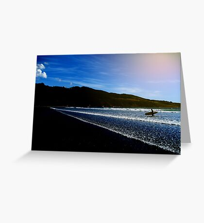 Blue reserve Greeting Card