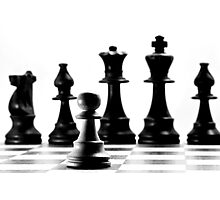 One Pawn Against The Hierarchy  Photographic Print