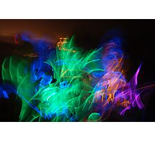 Glow Stick Dance Photographic Print