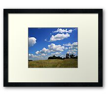 Little red machine on the Prairie Framed Print