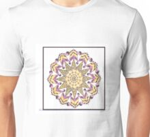 Pink & Yellow Tangled Quilt Square Unisex T-Shirt