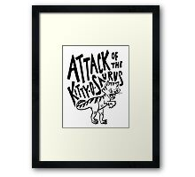 The Attack of Kitty-O-Saurus! Framed Print