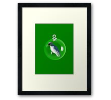 Aussi  X-mas  cockatoo Card (green ) stock up , get ready for Christmas ! Framed Print