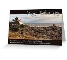 Father's Day Lighthouse - Religious Greeting Card for Grandfather Greeting Card