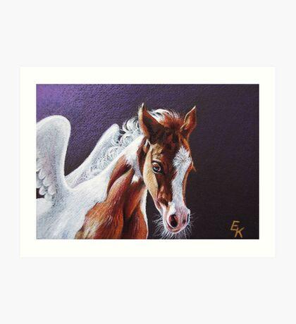 Pegasus foal Art Print