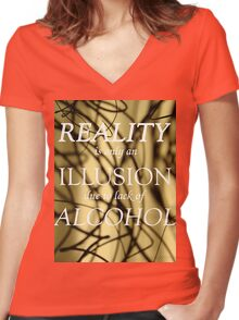 T- Reality Women's Fitted V-Neck T-Shirt