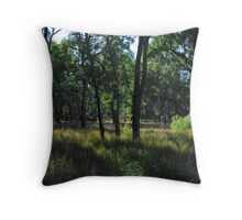 Early light in the trees...  Salvator Rosa. Throw Pillow
