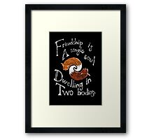 Friendly Foxes Framed Print