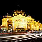 Flinders Street by Night by Ryan Lester