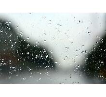 Looking through the Window Pane Photographic Print