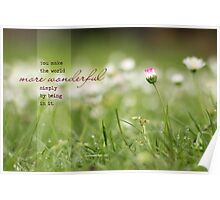 You Make the World More Wonderful - Card Poster