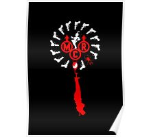 MCR Spinwheel Red and White Poster