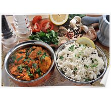 Chicken and Spinach Balti Poster