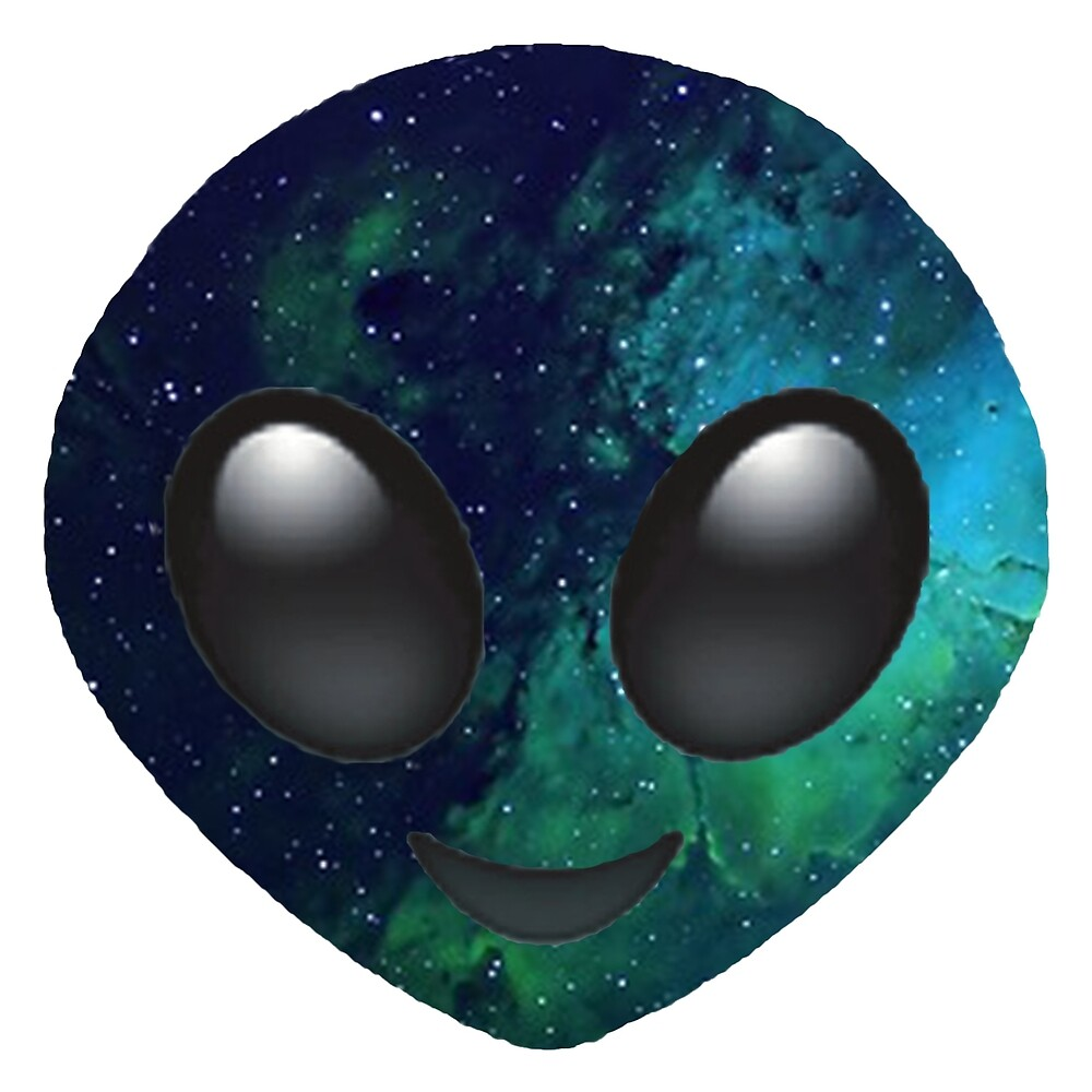 Quot Galaxy Alien Emoji Quot By Jnxgny Redbubble