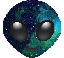 Galaxy Alien Emoji by jnxgny