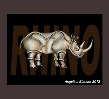 Rhino Text by Angelina Elander