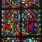 1984 Beauvais Cathedral window Chapel of Sacrament Tree of Jesse by Fred Mitchell