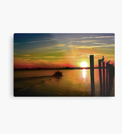 End Of A Day Metal Print