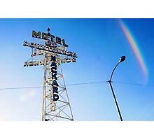 Flagstaff Motel Photographic Print