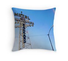 Flagstaff Motel Throw Pillow