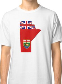Manitoba Flag Map  Classic T-Shirt