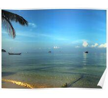 Lazy morning, Koh Tao Island, Thailand. Poster