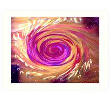 effervescence - cerise Art Print