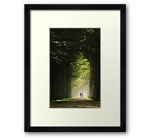 Walking on a bright lane Framed Print