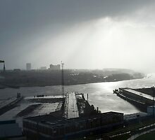 Storm on the Tyne by Catherine Dipper