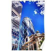 London Gherkin Tower Poster