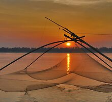 Mekong sunset by Adri  Padmos