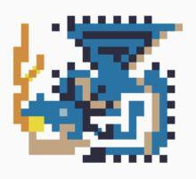 Pixel Azure Rathalos by skullnuku