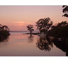 Sunset at Denmark Rivermouth Photographic Print
